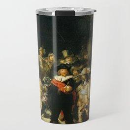 The Night Watch Rembrandt Harmenszoon Van Rijn Travel Mug