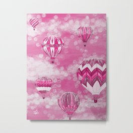 Hot Air Balloons #1 - Pink Metal Print