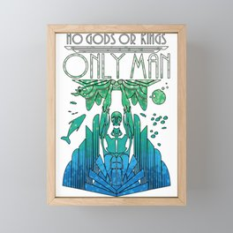 Bioshock - No gods, only Man Framed Mini Art Print