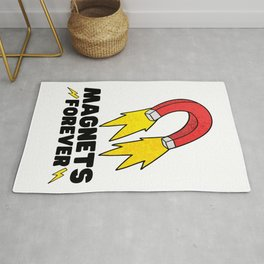 Magnets forever - funny science Rug