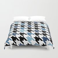 tooth Duvet Covers featuring Blue Tooth by Project M