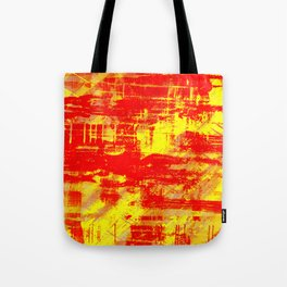 Sunburn - Abstract, yellow, red and orange, textured oil painting Tote Bag