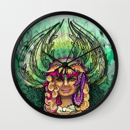 Meditation - Green Tara Wall Clock