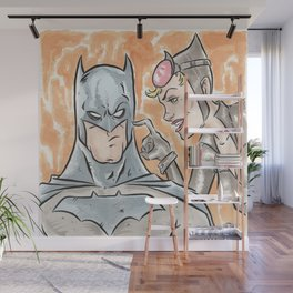 The Bat and The Cat Wall Mural