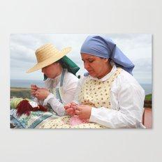 Women making handicraft Canvas Print