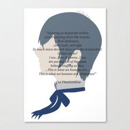 Ciel Phantomhive Quote Canvas Print