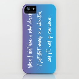 Solid Direction iPhone Case