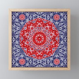 Maltesse Mandala Bandana Framed Mini Art Print