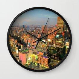 Shibuya, Tokyo, Japan Wall Clock