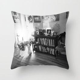 """""""Ziggy Star-Dog"""" by Lindsay Wiggins Throw Pillow"""