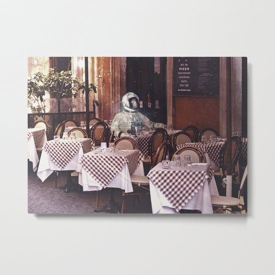 Dining Alone Metal Print