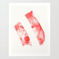 eric fan Art Prints featuring Red - by Eric Fan and Garima Dhawan  by Eric Fan