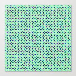 Turquoise Dots Pattern Canvas Print