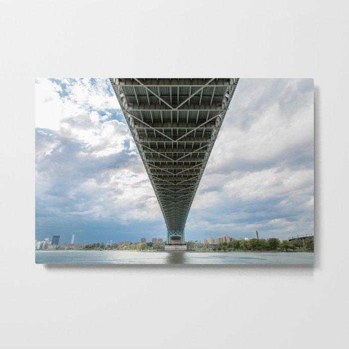 Under the Bridge in Queens Metal Print