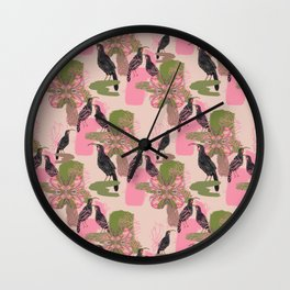 Huias and Proteas Wall Clock