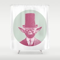yoda Shower Curtains featuring Yoda by NJ-Illustrations