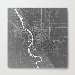 Bismarck USA Modern Map Art Print Metal Print