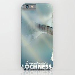 Loch Ness Scotland monster vintage travel poster iPhone Case
