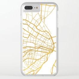 ST. LOUIS MISSOURI CITY STREET MAP ART Clear iPhone Case