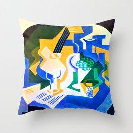 Juan Gris Fruit Bowl and Mandolin Throw Pillow