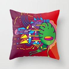 Alien Colors Throw Pillow
