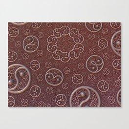 Burgundy brooches Canvas Print