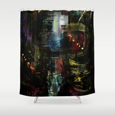 Astronaut in the city Shower Curtain