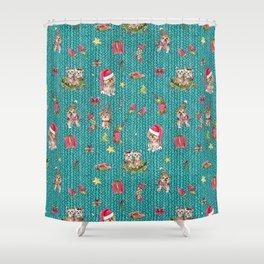 A Very Yorkie Christmas Shower Curtain