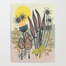 Vintage Garden Sunrise Poster