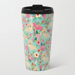 Dachshund longhaired cream doxie floral dog breed pet gift for dachsie lovers must haves Travel Mug