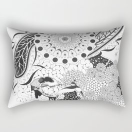 Damask abstract design Rectangular Pillow