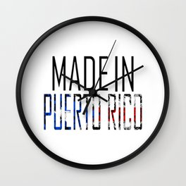 Made In Puerto Rico Wall Clock