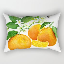 Oranges and their blossoms Rectangular Pillow