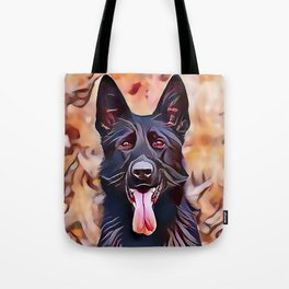 The Black German Shepherd Tote Bag