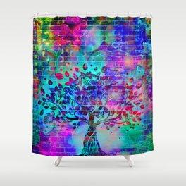 wall graffiti Shower Curtain
