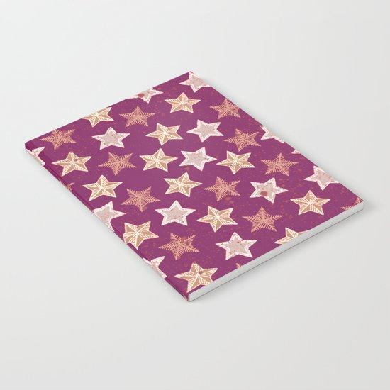 Festive Stars Purple Notebook