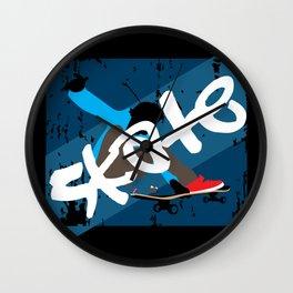 Vintage Skateboard Wall Clock