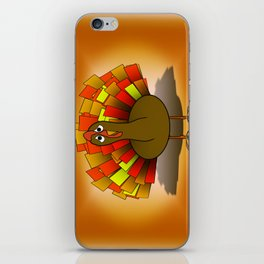 Worried Turkey Illustration iPhone Skin