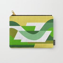 SUISSE - Art Deco Modern: GREEN SCENE Carry-All Pouch