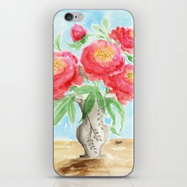 Peonies in Vase iPhone Skin