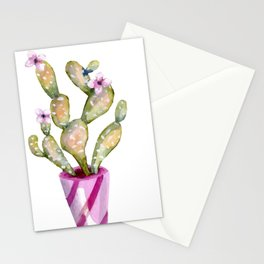 Purple Potted Cacti Stationery Cards