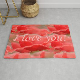 Love You! Red Poppies #decor #society6 #buyart Rug