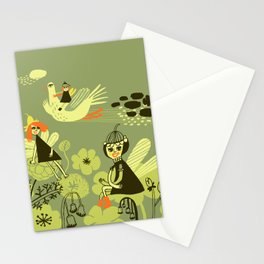 Fairies chilling Stationery Cards