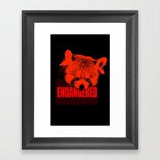 Endangered Red panda Framed Art Print