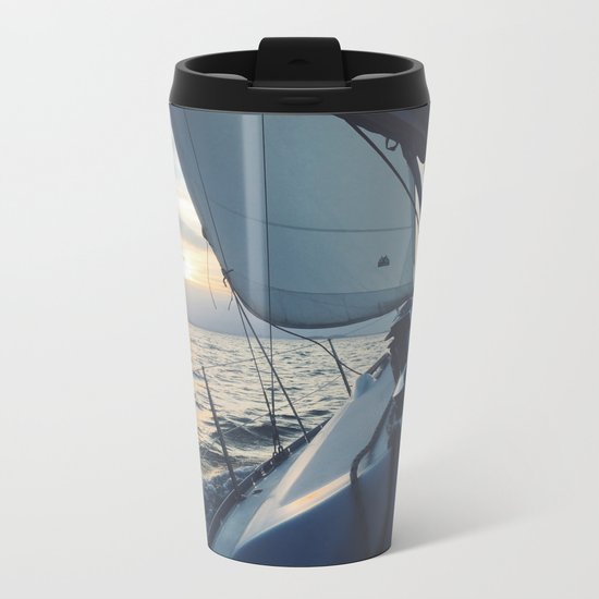 Boat Life Metal Travel Mug