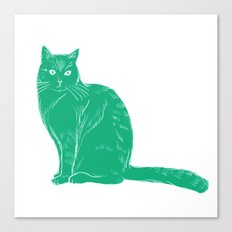 Russell - Cat colour print Canvas Print