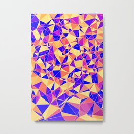 Colorful Polygonal Pattern Metal Print