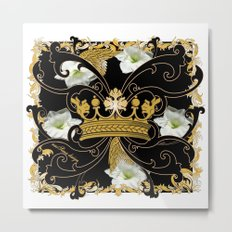 My Empire Collection Summer Set White Flowers Crown Metal Print