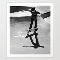 skateboard Art Prints featuring Skateboard by Chiarra Mandato