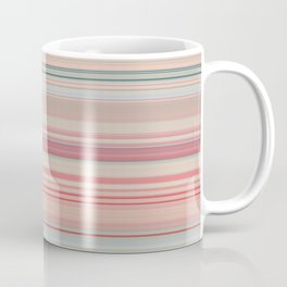 Pink Peach Pastel Stripe Design Coffee Mug
